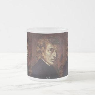 Frédéric Chopin Portrait 10 Oz Frosted Glass Coffee Mug