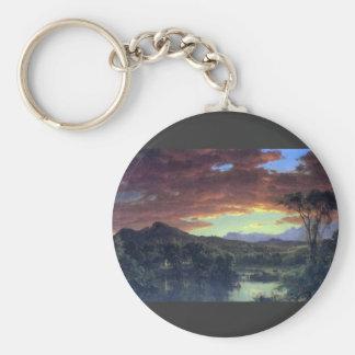 Frederic Edwin Church - A rural home Key Chain