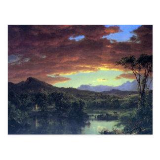 Frederic Edwin Church - A rural home Postcard