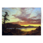 Frederic Edwin Church - A Sunset Greeting Cards