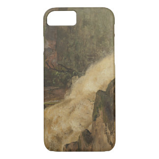Frederic Edwin Church - A Waterfall in Colombia iPhone 7 Case