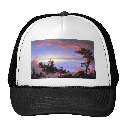 Frederic Edwin Church - Above the clouds at sunris Trucker Hat