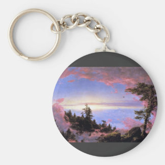 Frederic Edwin Church - Above the clouds at sunris Key Chain