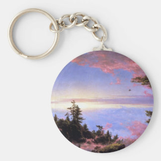 Frederic Edwin Church - Above the clouds at sunris Keychains