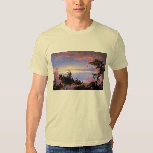 Frederic Edwin Church - Above the clouds at sunris T-shirts