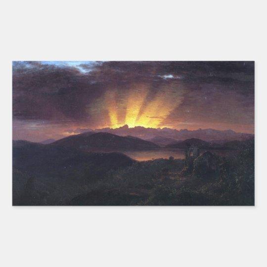 Frederic Edwin Church - After the annealing Rectangular Sticker