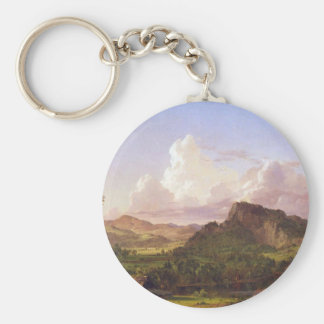 Frederic Edwin Church - At home on the lake Key Chains