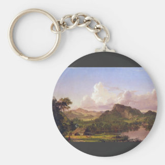 Frederic Edwin Church - At home on the lake Keychains