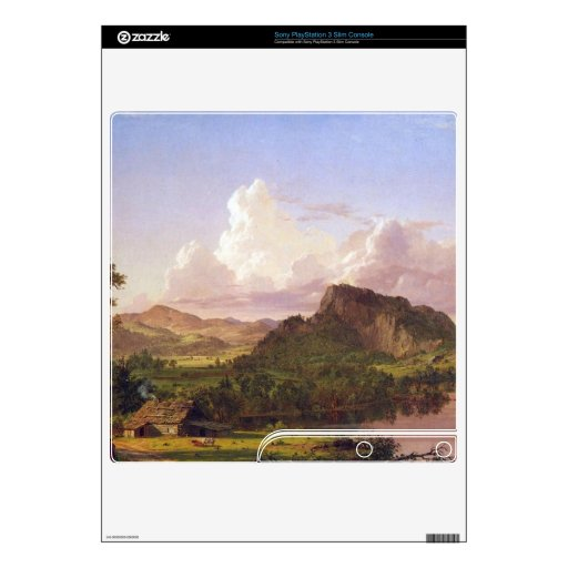 Frederic Edwin Church - At home on the lake PS3 Slim Console Skins