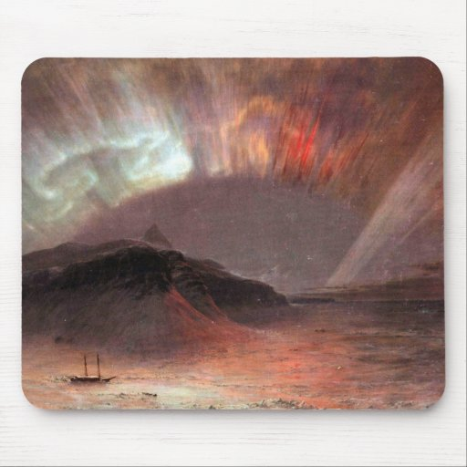 Frederic Edwin Church - Aurora Borealis Mouse Pad