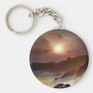 Frederic Edwin Church - Coast Scene Mount Desert Keychains