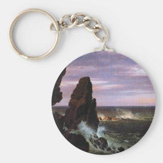 Frederic Edwin Church - Coastal scene Key Chain