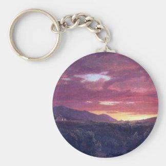 Frederic Edwin Church - Dusk sunset Keychain