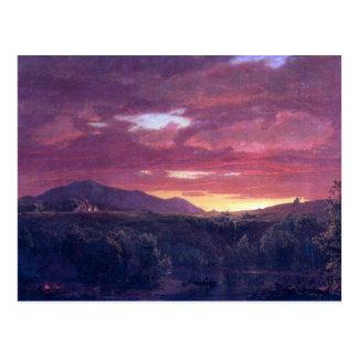 Frederic Edwin Church - Dusk sunset Postcard