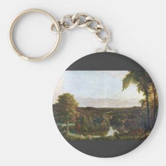 Frederic Edwin Church - In the Catskills -Thomas C Keychain