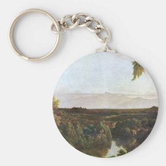 Frederic Edwin Church - In the Catskills -Thomas C Key Chain