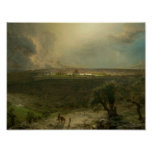 Frederic Edwin Church - Jerusalem from the Mount Poster