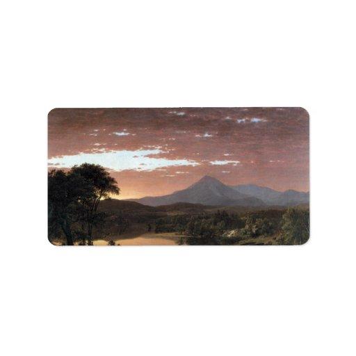 Frederic Edwin Church - Mount Ktaadn (Katahdin) Custom Address Label