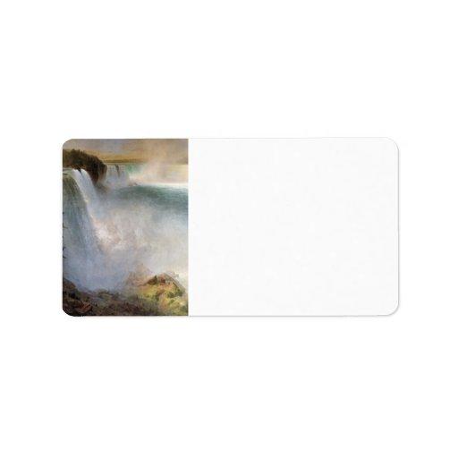 Frederic Edwin Church - Niagara Falls from the Ame Custom Address Labels