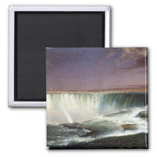 Frederic Edwin Church - Niagara 2 Inch Square Magnet