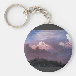 Frederic Edwin Church - Olana in the clouds Key Chains