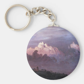 Frederic Edwin Church - Olana in the clouds Keychains