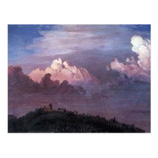 Frederic Edwin Church - Olana in the clouds Postcard