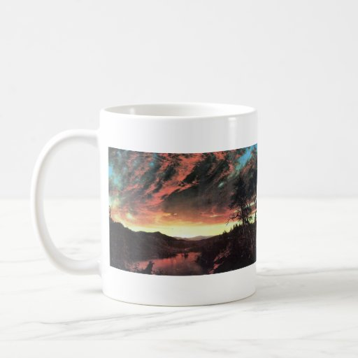 Frederic Edwin Church - Secluded landscape in the Classic White Coffee Mug