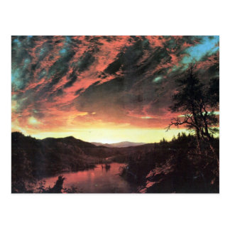 Frederic Edwin Church - Secluded landscape in the Postcard