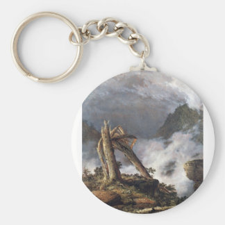 Frederic Edwin Church - Storm in the Mountains Keychains