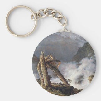 Frederic Edwin Church - Storm in the Mountains Key Chains