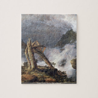 Frederic Edwin Church - Storm in the Mountains puz Jigsaw Puzzles