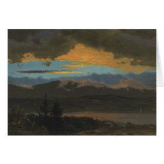 Frederic Edwin Church - Sunset Across the Hudson Card