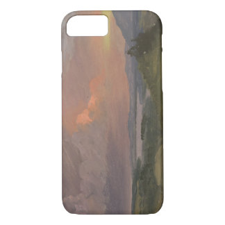 Frederic Edwin Church -Sunset in the Hudson Valley iPhone 7 Case