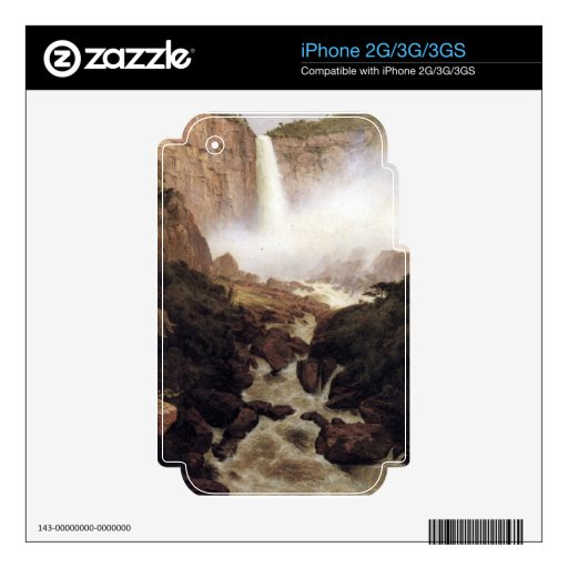 Frederic Edwin Church - Tequendama falls near Bogo Decals For iPhone 3GS