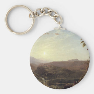Frederic Edwin Church - The Cordilleras - Sunrise Keychain