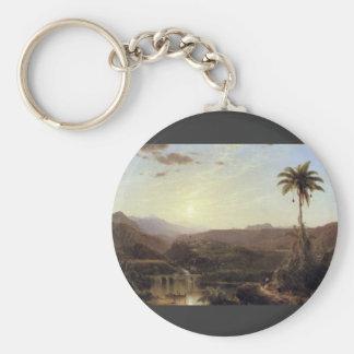 Frederic Edwin Church - The Cordilleras - Sunrise Key Chain