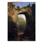 Frederic Edwin Church - The Natural Bridge Virgini Greeting Card