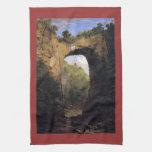Frederic Edwin Church - The Natural Bridge Virgini Hand Towels