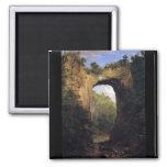Frederic Edwin Church - The Natural Bridge Virgini 2 Inch Square Magnet