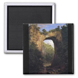 Frederic Edwin Church - The Natural Bridge Virgini Magnets