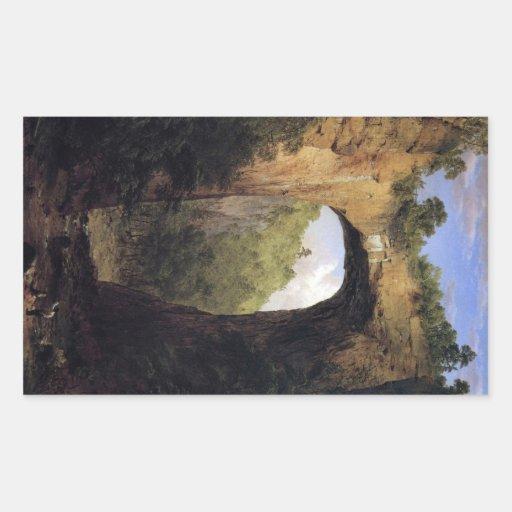 Frederic Edwin Church - The Natural Bridge Virgini Rectangular Sticker
