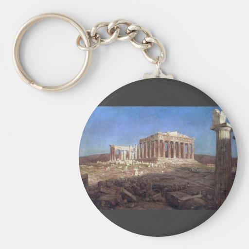 Frederic Edwin Church - The Parthenon Key Chain