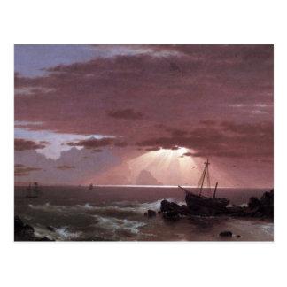 Frederic Edwin Church - The wreck Post Card