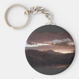 Frederic Edwin Church - Twilight Catskill Mountai Key Chains
