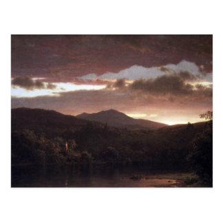 Frederic Edwin Church - Twilight (Catskill Mountai Postcard