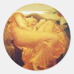 "Frederic Leighton, ""Flaming June""  Sticker"