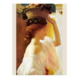 Frederic Leighton Girl with basket of fruit CC0955 Postcard