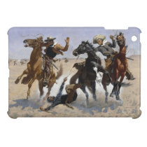 Frederic Remington - Aiding a Comrade Cover For The iPad Mini