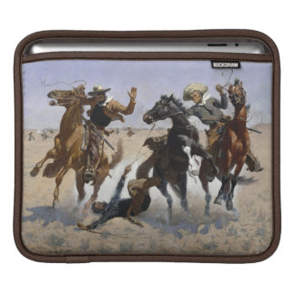 Frederic Remington - Aiding a Comrade Sleeves For iPads